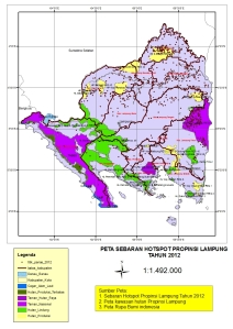 peta sebaran hotspot 2012
